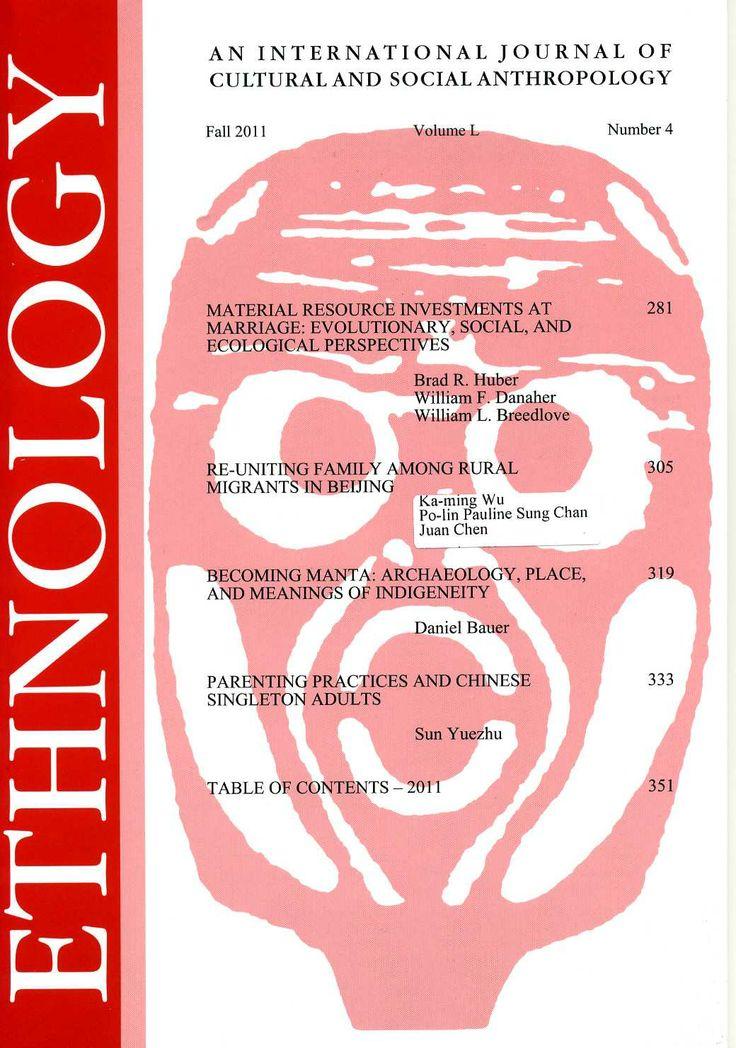 Ethnology v. L, nº 4 (2011)