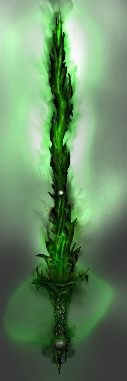 Orandi das Folhas Escuras. Essa poderosa arma das folhas escuras foi especialmente desenvolvida por Cadius, um dos Hierofantes das Folhas, para matar Varandruils, na 6a. Era. Essa arma amplia os poderes do druida, além de ter imensos outros poderes.