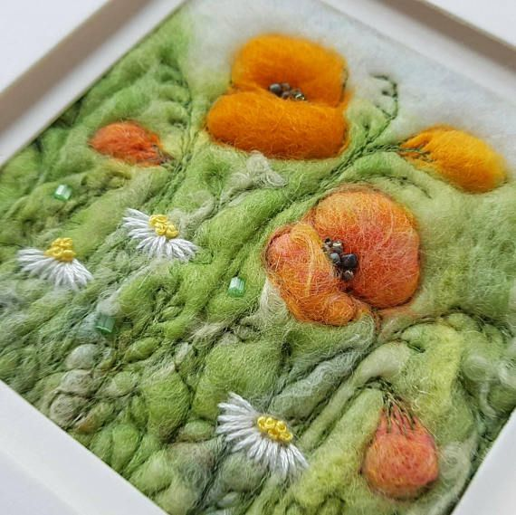 Check out this item in my Etsy shop https://www.etsy.com/uk/listing/516428012/orange-poppies-and-daisies-an-original