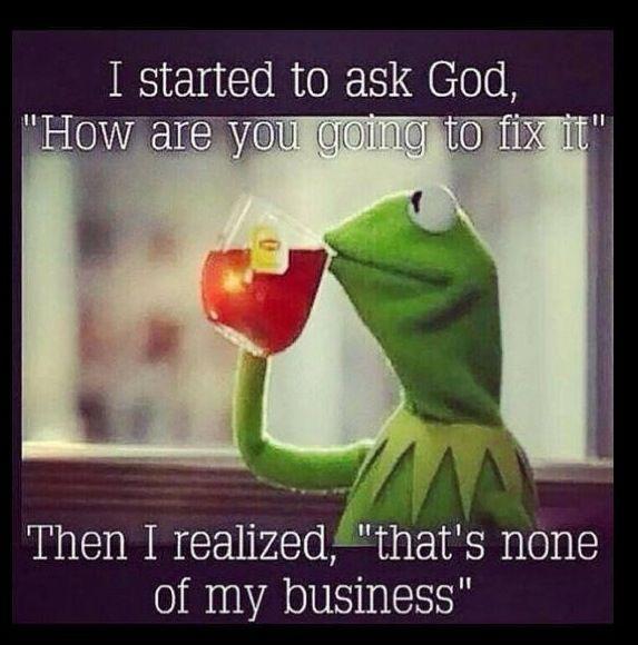 Fix it, Jesus...