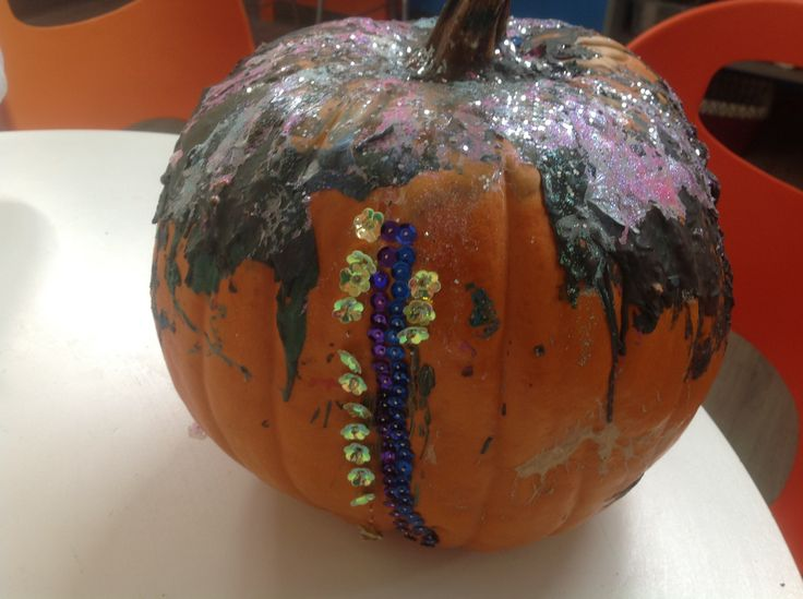 Pumpkin Sequence Melted Crayon