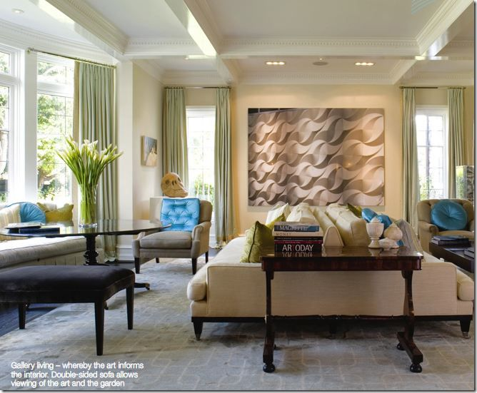 Exceptional Living Room   Beautiful Decor   Color Palette   Two Sided Sofa   Furniture  Placement