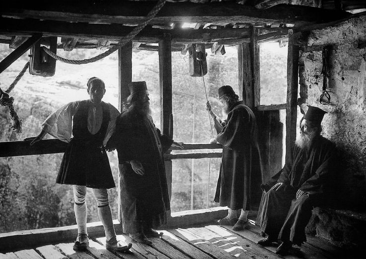 Scene from Meteora Monastery, 1908