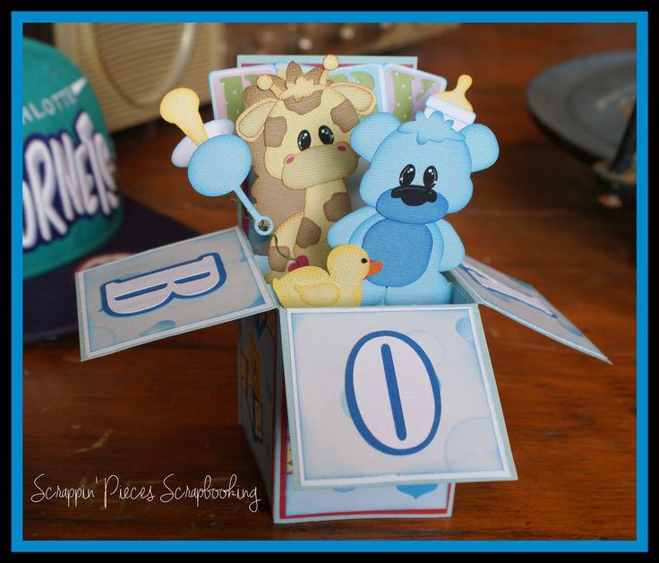 Card in a Box-Baby Boy~DT Debbie Scrappin' Pieces Scrapbooking