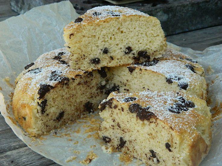 Buttermilk, Olive Oil and Chocolate Chips Tea Cake   Silvia Colloca
