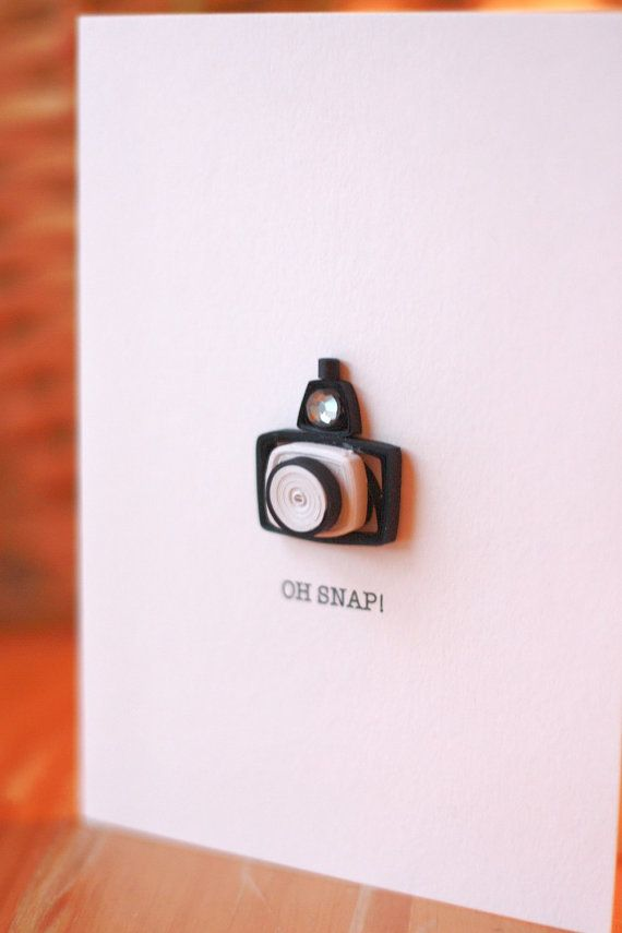Quilled camera (card)