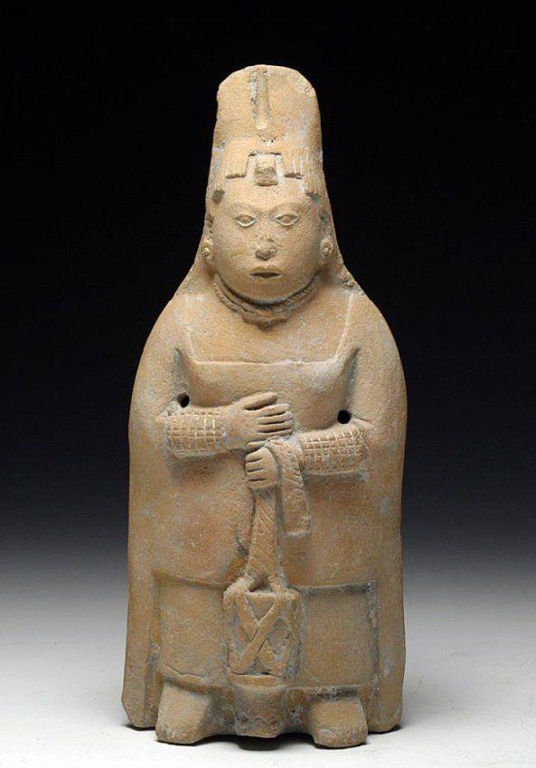 Exceptional Maya Jaina Pottery Rattle