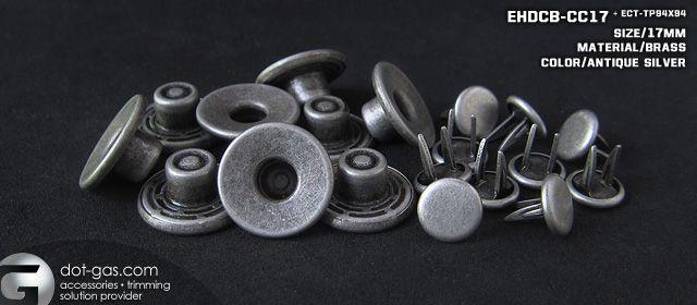 antique silver shank button