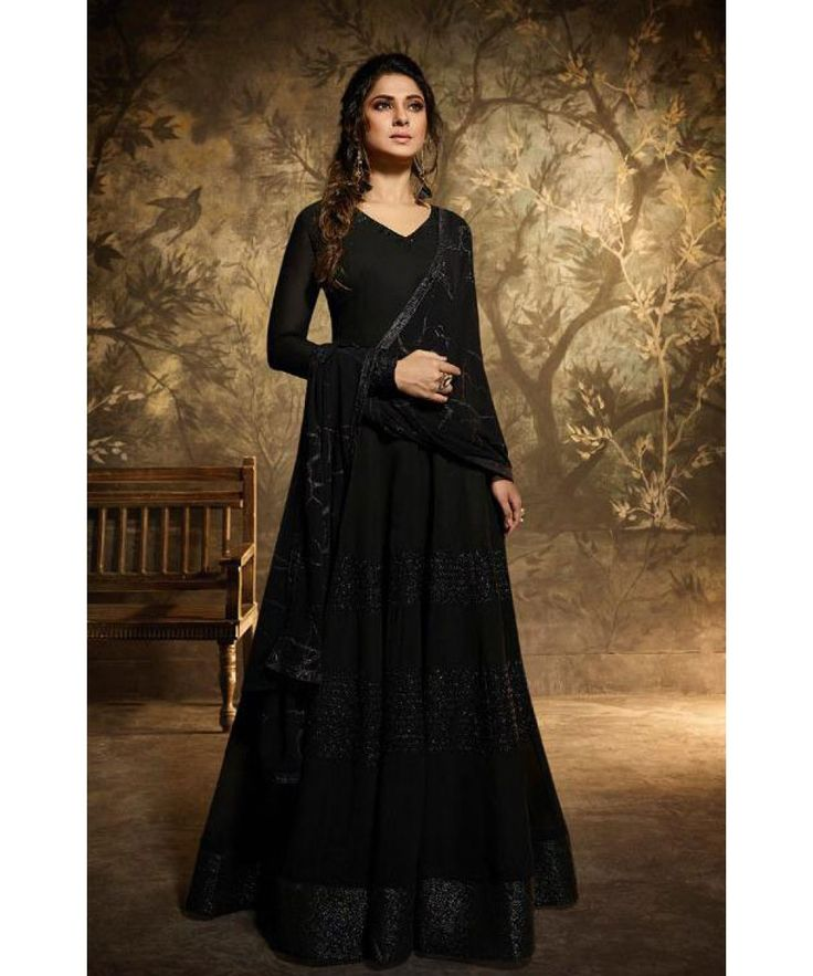 Black Colour Gown - Jennifer Winget in 2020 | Wedding suit ...