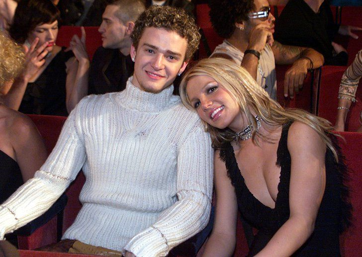 Pin for Later: A Sweet, Somewhat Hilarious History of Celebrity Couples at the MTV VMAs Britney Spears and Justin Timberlake, 2000
