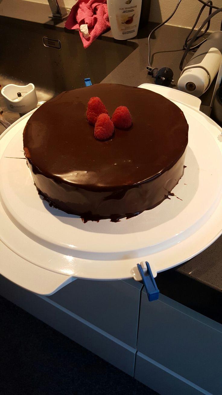 chocolade vanille en frambozen
