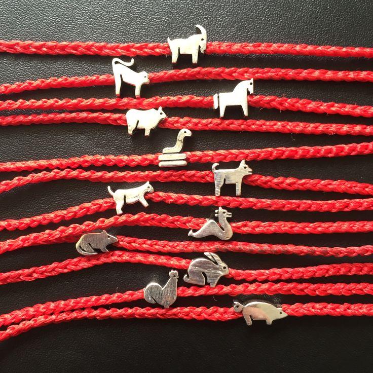 Chinese astrology icon bracelets. www.madesignistanbul.com