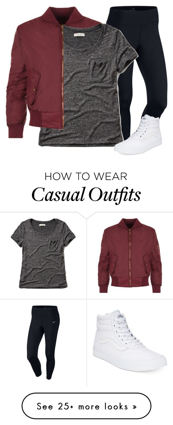 """Casual"" by brookiepooh131 on Polyvore featuring Mode, WearAll, NIKE, Abercrombie & Fitch und Vans"