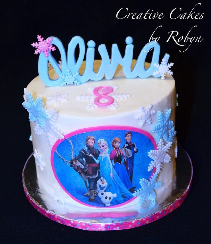 disney frozen cake design ~ gonna do letters if the name like that!