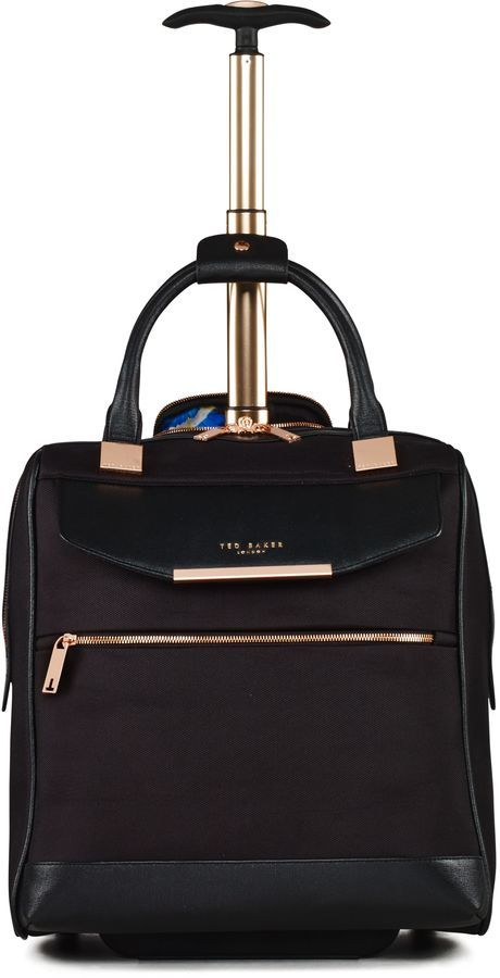 This certainly will light up a business woman's day and make them look like a upper class business professional! Ted Baker Ladies albany black 2 wheel business trolley #afflink