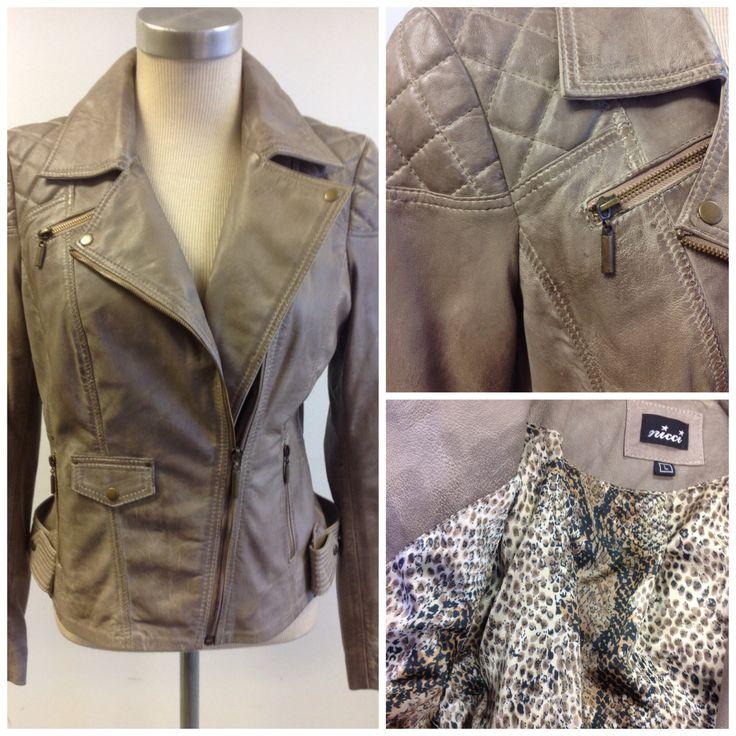 Genuine leather moto jacket at #Nicci