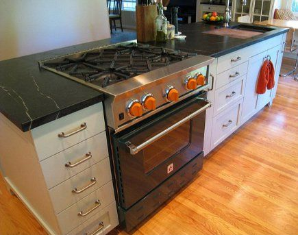 1000 images about sink and stove on pinterest stove - Kitchen island with cooktop and prep sink ...