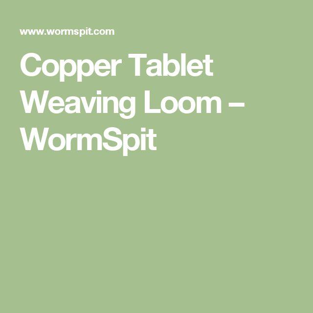 Copper Tablet Weaving Loom – WormSpit