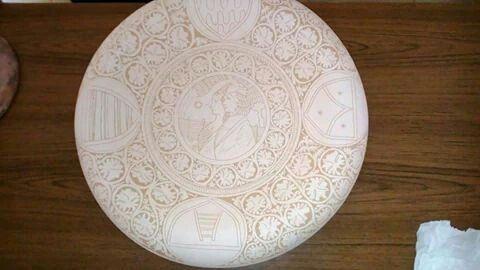 Piatto da parata in ceramica graffita