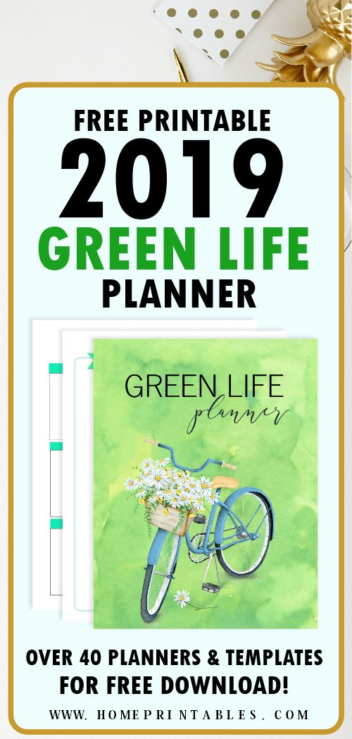 2019 Calendar Printable and Life Planner for FREE - So Beautiful