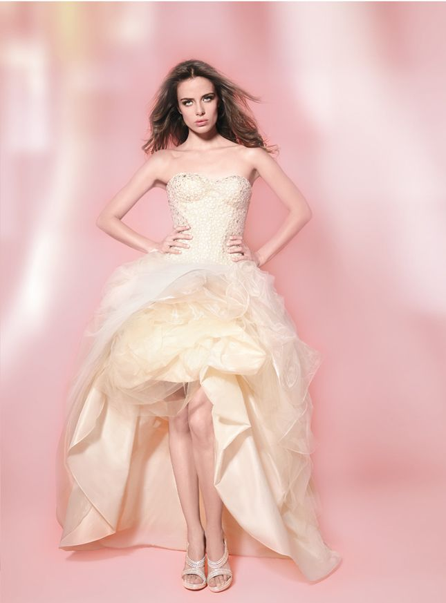 {Bridal Fashion} : Mullet Wedding Dresses - Party In The Front, Princess In The Back - Belle the Magazine . The Wedding Blog For The Sophisticated Bride
