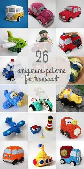 Amigurumi Patterns For Transport | Perfect for that little boy obsessed with trucks and cars