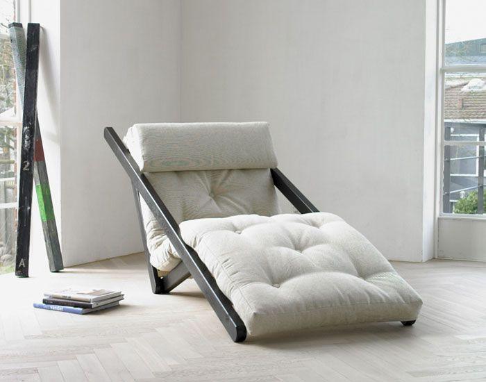 Futon design canap s lits facile lounge figo ensemble lin canap - Canape lit pour couchage permanent ...