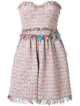 твидовое платье без бретелек