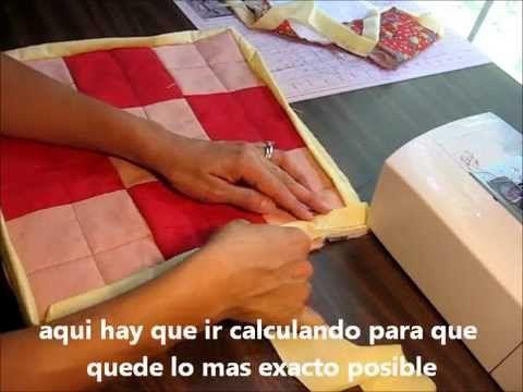 tutorial como terminar el borde de un quilt o colcha