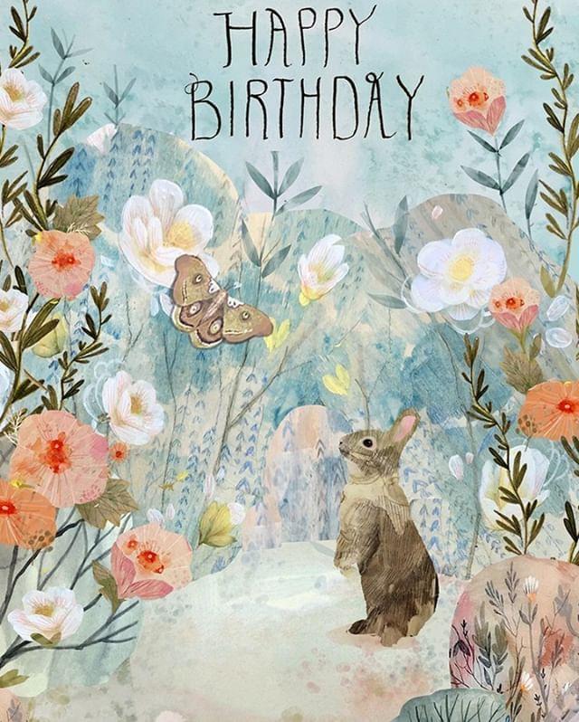 Happy Birthday To Kendra Binney Kendra Binney Illustration For Roger La Borde Lillarogersstudio Kendrabinney I Illustration Greetings Greeting Cards