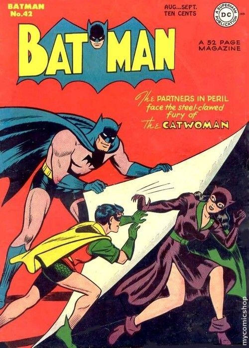 51 best catwoman images on pinterest comics batman robin and catgirl golden ages catwomans second appearance on a comic book cover and her first on the fandeluxe Gallery