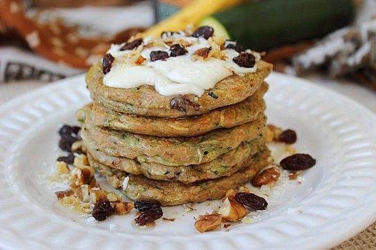 Whole Grain Vegan Zucchini Pancakes | Pancakes, Waffles, and French T ...