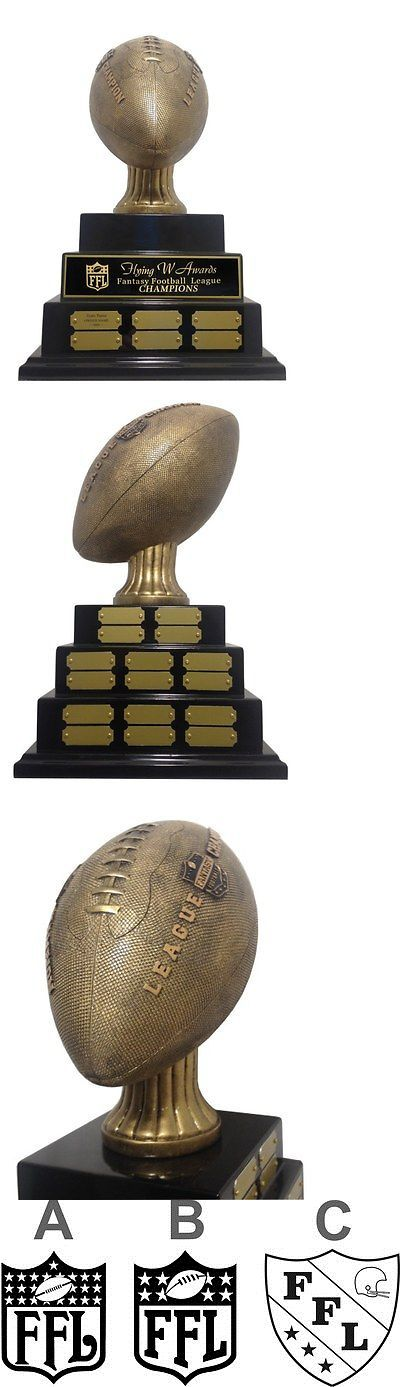 Other Football 2024: 3 Tier Large Embossed Fantasy Football Perpetual Trophy Awesome New Design! -> BUY IT NOW ONLY: $163.2 on eBay!