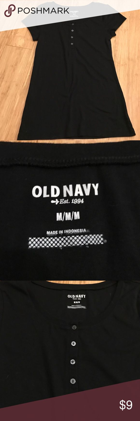 NWOT old navy tee NWOT old navy tee on black. Crew neck with 4 button that do open up. Old Navy Tops Tees - Short Sleeve