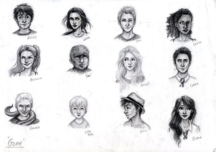 Characters from Gone by Michael Grant by meabhdeloughry...character sheet