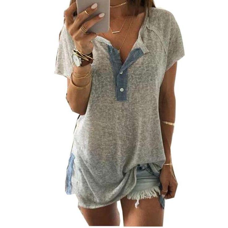 Short sleeve casual cotton T shirt