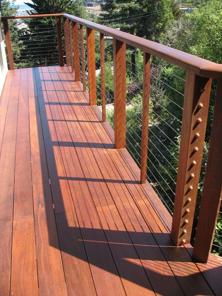 cable rail deck patio ideas pinterest cable decks. Black Bedroom Furniture Sets. Home Design Ideas