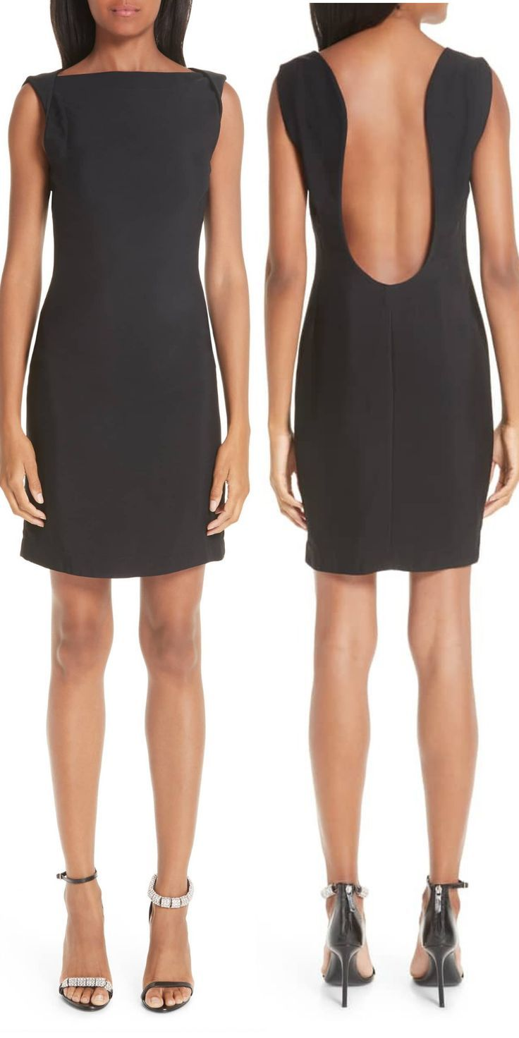 0e21ff46d27 CALVIN KLEIN Open Back Cady Dress. A plunging scooped-out back leaves this  ostensibly simple LBD with a spine-tingling finish for any occasion.