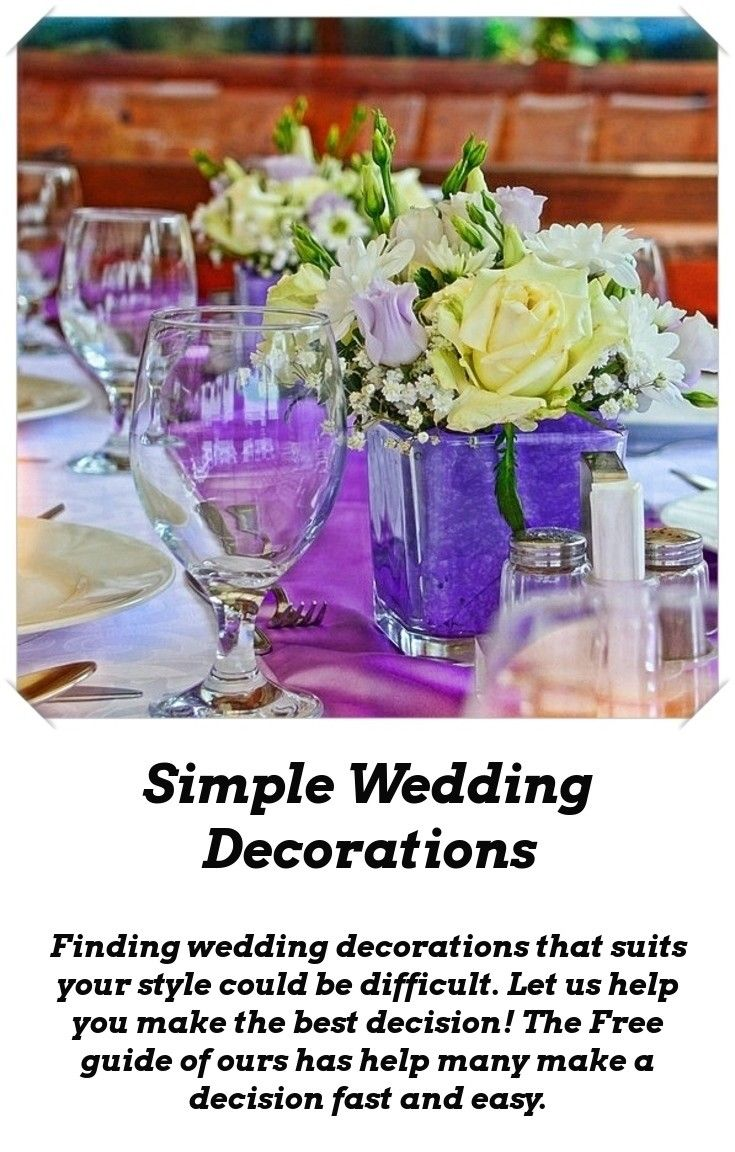 8caeaf354e6 Wedding decor  Having the right wedding decor is very important. With the  help of ours you will make the best choice. Check out our Free guide on  wedding ...