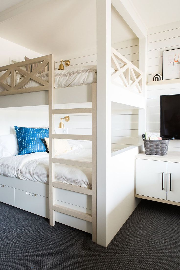 Kids Bedroom Bunk Beds 17 Best Ideas About Bunk Rooms On Pinterest White Bunk Beds