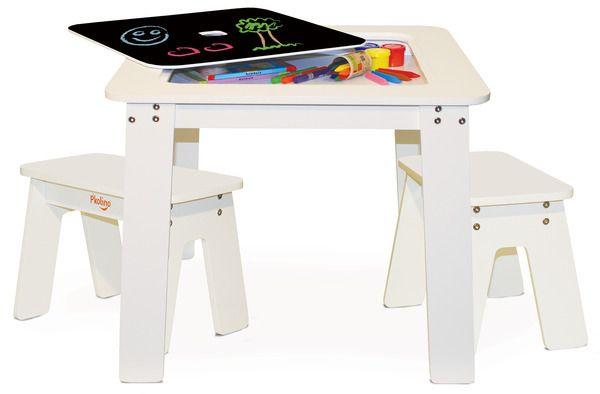 P'kolino Chalk Table and Benches White.  Available at Kids Mega Mart Online Shop Australia