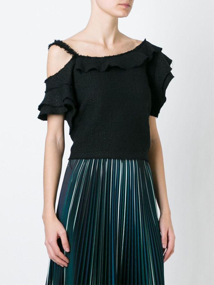 Proenza Schouler asymmetric tweed top