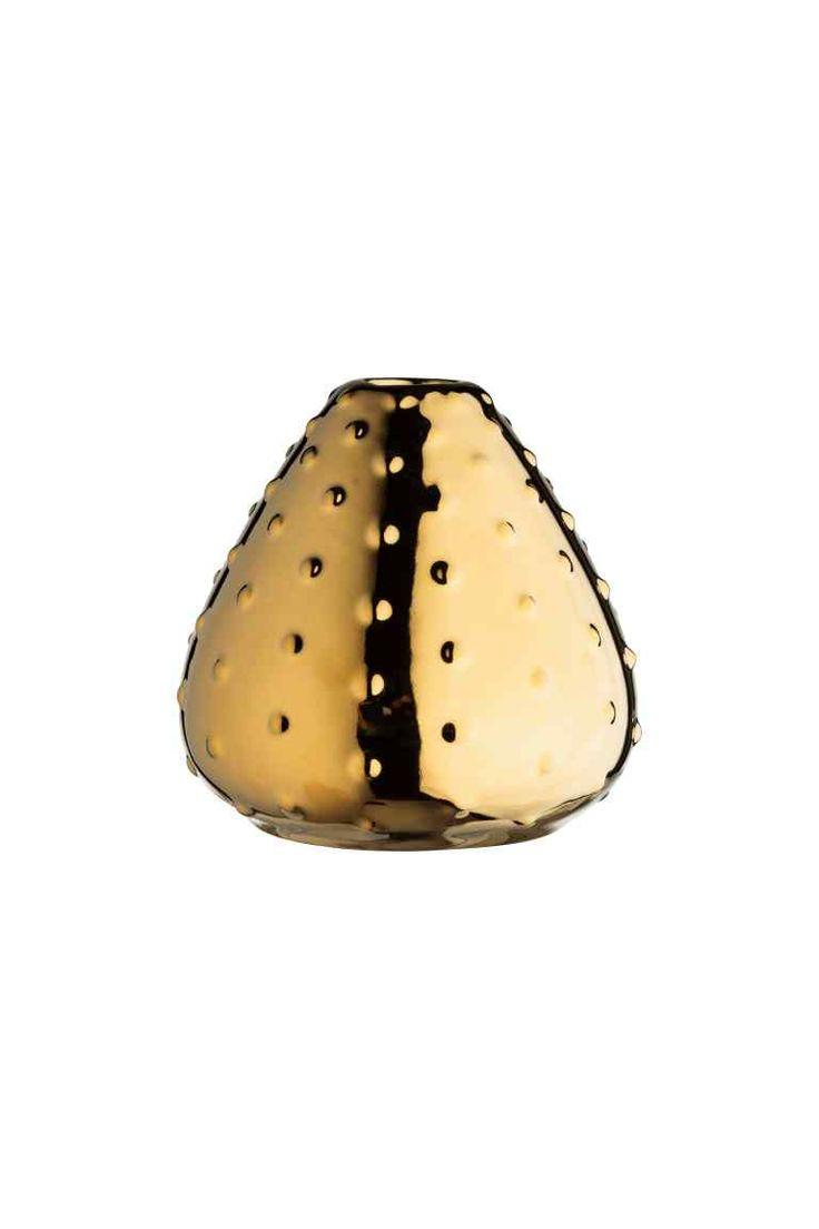 Маленькая керамическая ваза - Золотистый - HOME   H&M RU 1