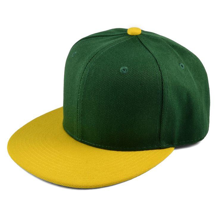 Grøn/Gul Snapback Cap - 199,00kr