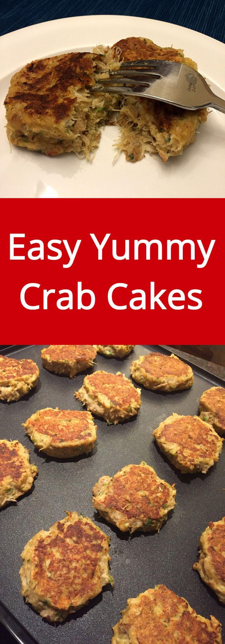 Easy Homemade Crab Cakes Recipe - so delicious, I love crab cakes!   MelanieCooks.com