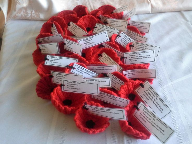Some of my Poppies for the 5000 Poppies. These owere dedicated to my Dad and two grandfather's
