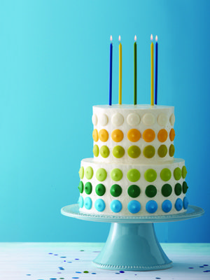 Easy birthday cake recipe... use different colour of chocolate wafers though