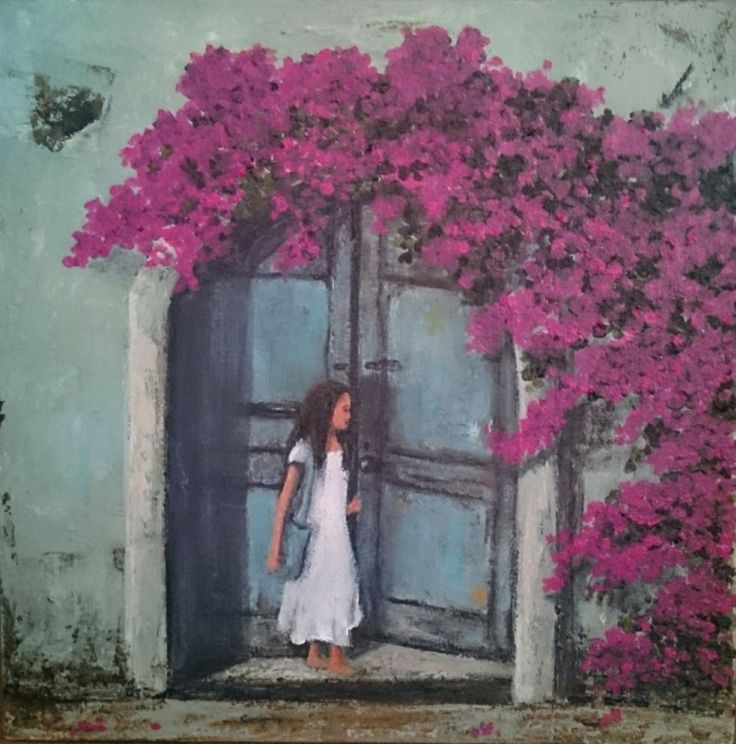 Enterering in - Painting by Herma Kitching