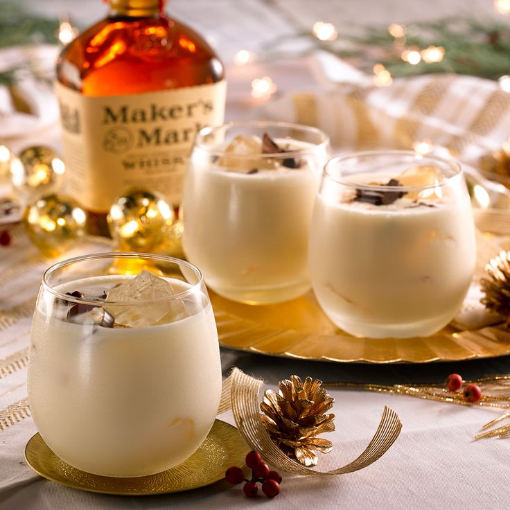 The holidays never tasted so good. Rich, creamy and egg-free, this Maker's-based concoction is a perfectly delectable way to drink in the season.