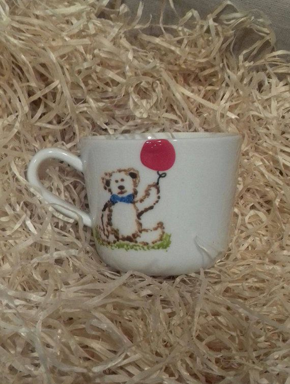 Check out this item in my Etsy shop https://www.etsy.com/uk/listing/487576812/hand-painted-teddy-mug